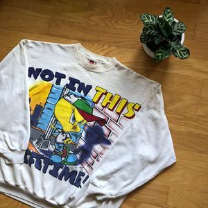 Vintage Looney Tunes Tweety Bird Crewneck Sweatshi